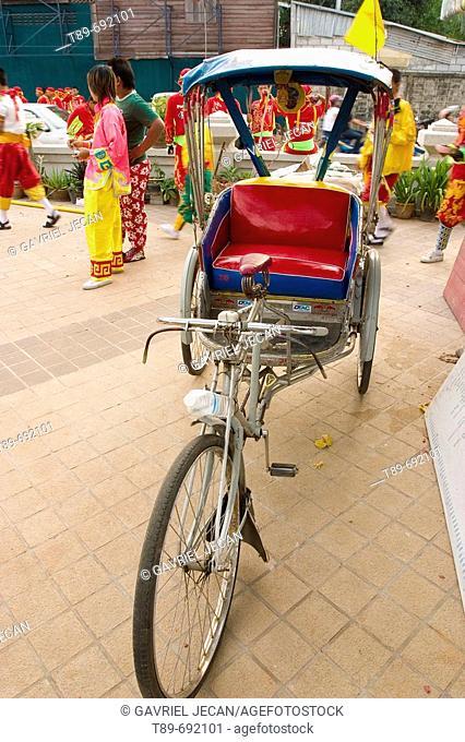 Bike Cab detile in Khon Kaen city, Thailand