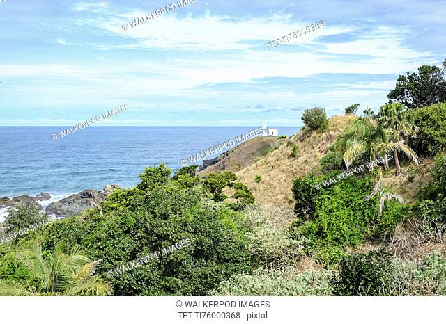 Australia, New South Wales, Landscape of cliff and sea