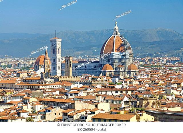 Cathedral and the old town, Florence, Tuscany, Italy