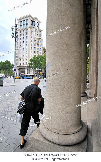 Passeig de Gràcia avenue intersection with Gran Via de les Corts Catalanes, Eixample area, Barcelona, Catalonia, Spain