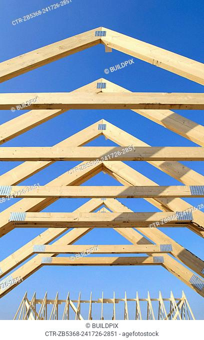 Roof trusses, pitched roof