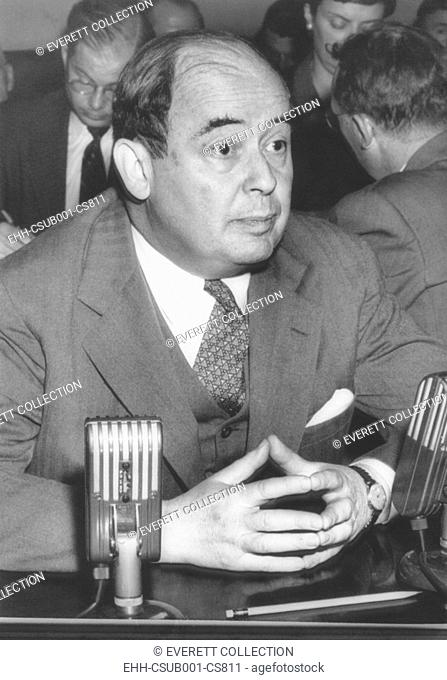 Dr. John von Neumann, a 51 year mathematician before Congress' Atomic Energy Committee. After his appearance he was approved to be on the ACE