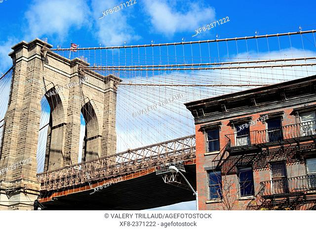 The Brooklyn bridge, Manhattan, New York City, New York, USA