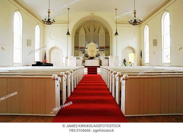 Congregational Church interior, Fairfield, Connecticut