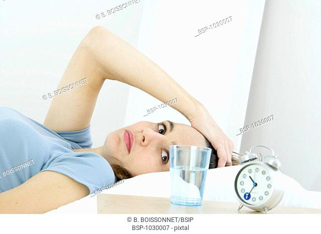 WOMAN WITH INSOMNIA Model