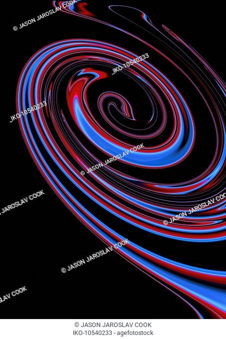 Abstract dark spiral pattern