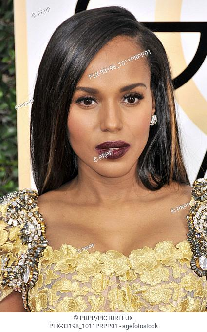 Kerry Washington at the 74th Annual Golden Globe Awards held at The Beverly Hilton Hotel in Beverly Hills, CA , USA , January 8, 2017