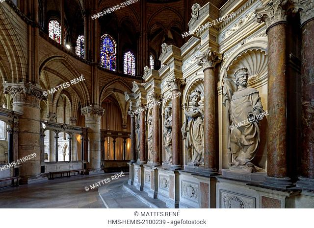 France, Marne, Reims, St Remi Basilica listed as World Heritage by UNESCO, tomb of St Remi in the choir