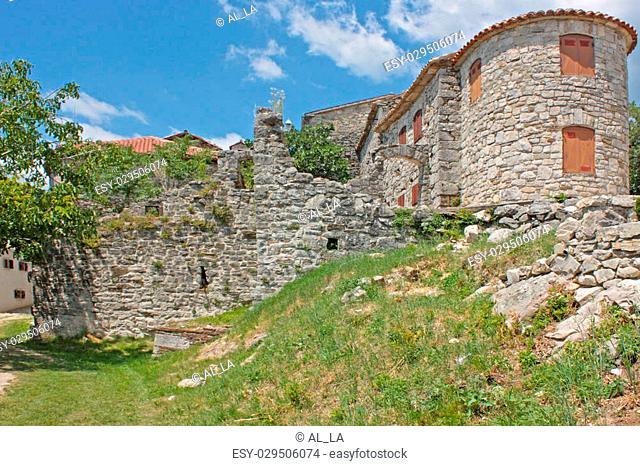 Small town Motovun in Croatia