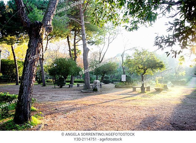 Villa Avellino park, Pozzuoli, Italy
