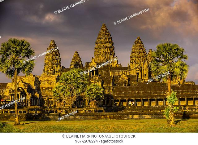 Angkor Wat, the largest religious monument in the world (means City which is a Temple); Cambodia