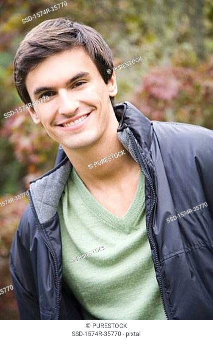 Portrait of a happy man smiling