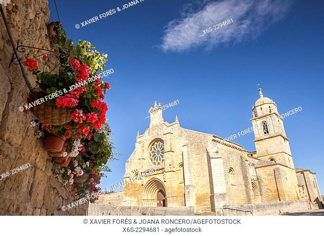 Church of Santa Maria del Manzano in Castrojeriz, Way of St. James, Burgos, Spain