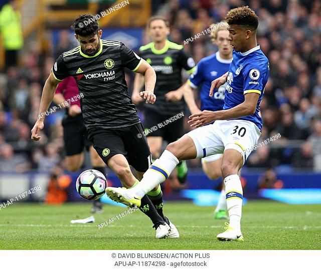 2017 Premier League football Everton v Chelsea Apr 30th. April 30th 2017, Goodison Park, Liverpool, England; EPL Premier league football