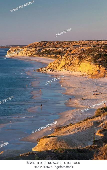 Australia, South Australia, Fleurieu Peninsula, Port Willunga, sunset