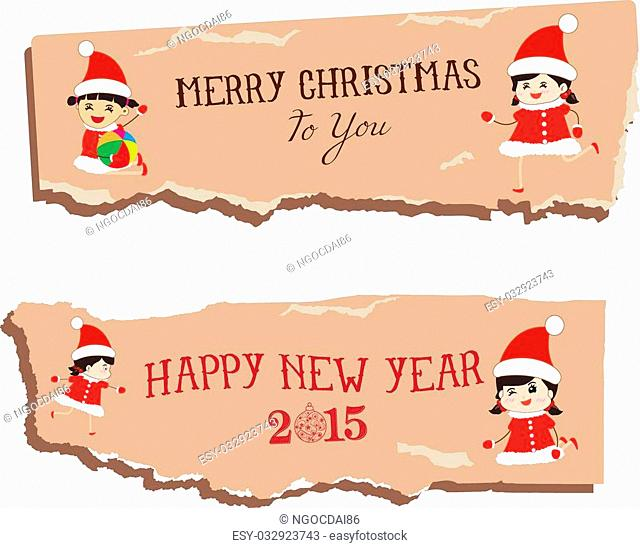 merry christmas and happy new year paper dripper banner
