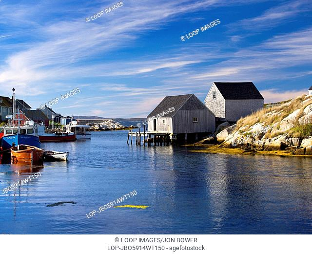 The picturesque fishing village at Peggy's Cove in Nova Scotia