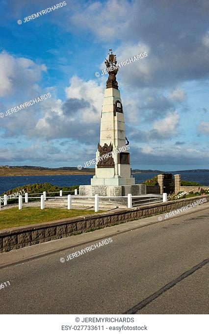 Memorial in Stanley, capital of the Falkland Islands, to the First World War naval battle fought on 8 December 1914 between of the United Kingdom and Germany