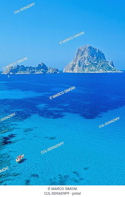 The rocky islet of Es Vedra, Formentera, Balearic Islands, Spain