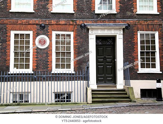 The home of Dr. Samuel Johnson, London, England, Europe