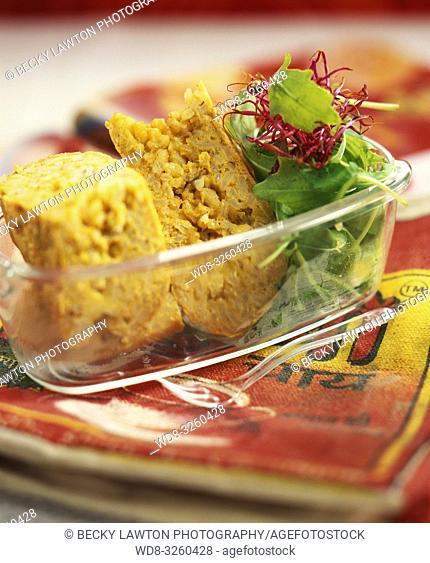 tortilla de arroz integral al curry / Brown rice curry omelette
