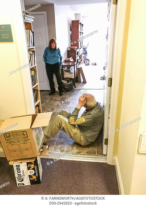 SOLOMONS ISLAND, MARYLAND. Asbury Retirement home. Couple moving in