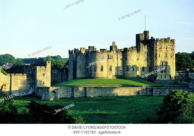 Alnwick Castle ancestral home of the Percy family and Harry Potter film location  Northumberland, England