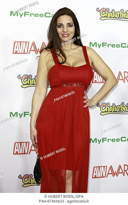 Adult film actress Mindi Mink attends the Adult Video News Awards, AVN Awards, at Hard Rock Hotel & Casino in Las Vegas, Nevada, USA, on 21 January 2017