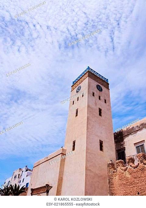 Clock tower in Essaouira, Morocco