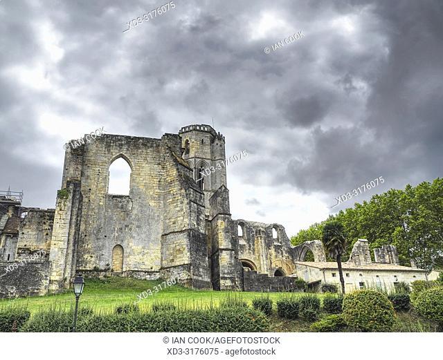 Grande-Sauve Abbey, La Sauve-Majeure, Gironde Department, Nouvelle-Aquitaine, France