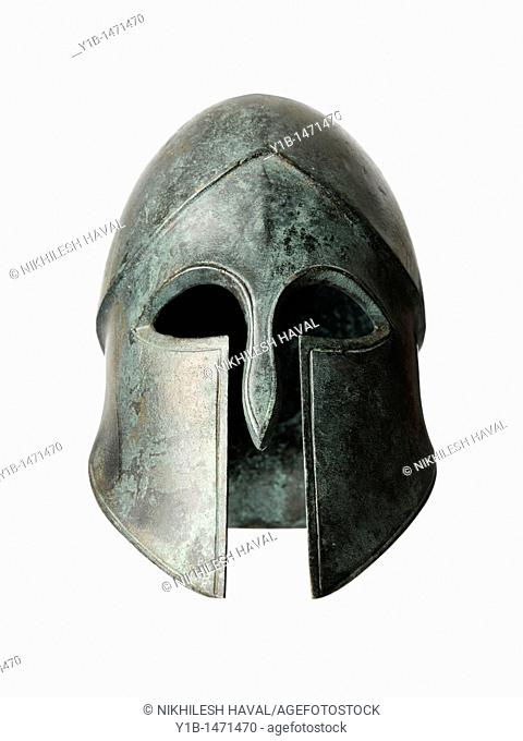 Bronze sculpture helmet visor