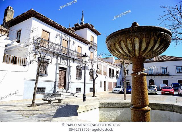 Square of Constitucion of Villaviciosa de Odon, Madrid, Spain