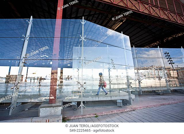 Detail of Shed, port of Valencia. Spain
