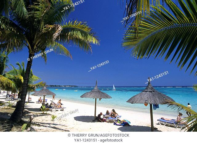 Trou aux biches beach, Mauritius Island  Indian Ocean