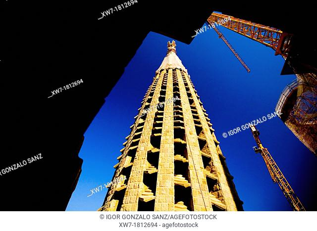 La Sagrada Familia of Barcelona, by Gaudi Spain  Modernist arquitecture