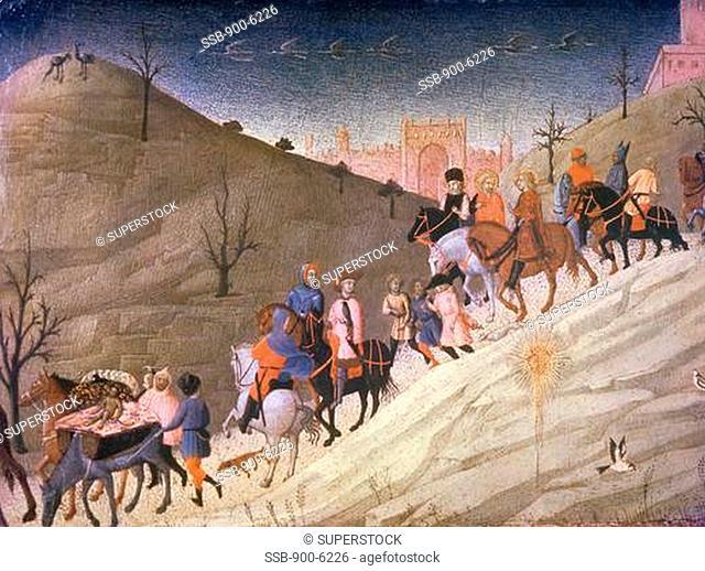 The Journey of the Magi Sassetta 1394-1450 Italian Metropolitan Museum of Art, New York City