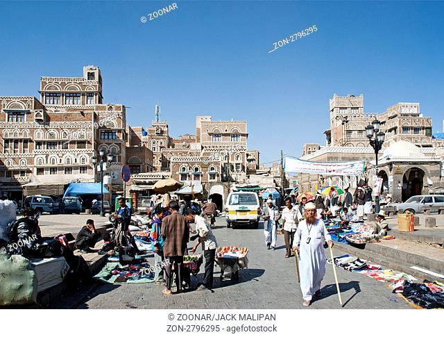 bab yemen square in sanaa yemen