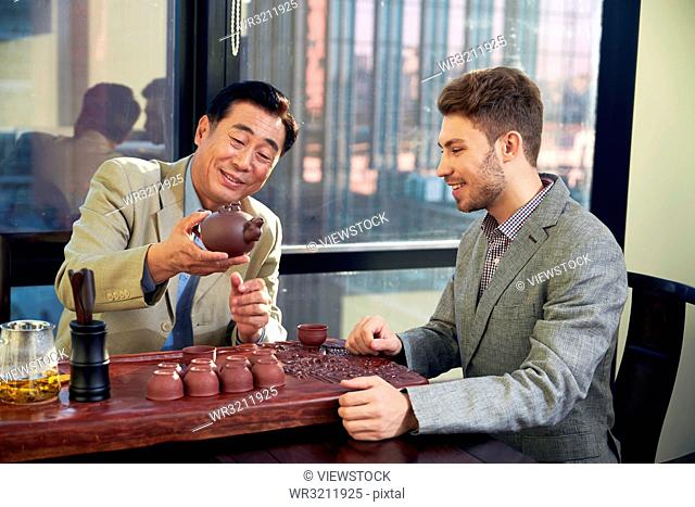 Business men in the tea houses