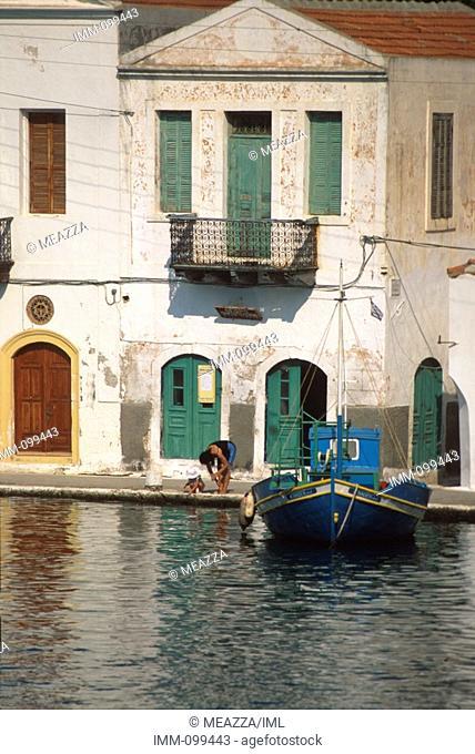 Dodecanese, Kastellorizo Kastellorizo port / town fishing boat