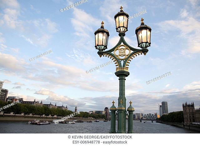 Westminster Bridge Lamppost; London; England; UK