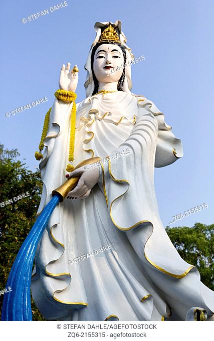 Statue in the Wang Sam Sien Temple in Pattaya, Thailand