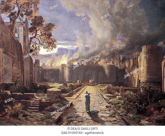 The destruction of Sodom and Gomorrah, by Jules-Joseph-Augustin Laurens (1825-1901).  Orleans, Musée Des Beaux-Arts (Picture Gallery)