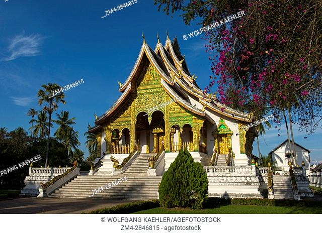 The Haw Pha Bang (the Royal temple) at the Royal Palace Museum in the UNESCO world heritage town of Luang Prabang in Central Laos