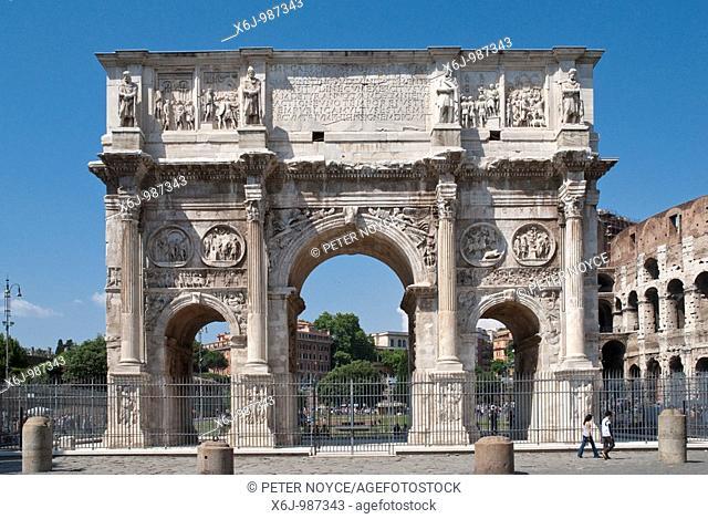 Arco di Constantino (Arch of Constantine), Rome, Italy