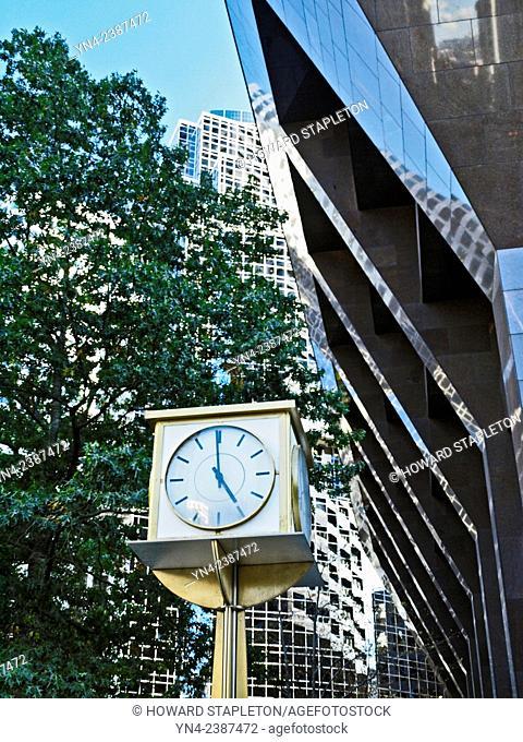 Sidewalk clock in downtown Boston, Massachusetts