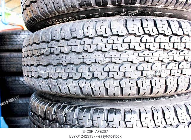 tire auto car with texture pattern and steel great plate wheel