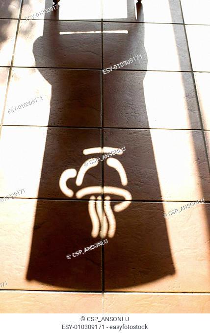 Shadow of coffee logo