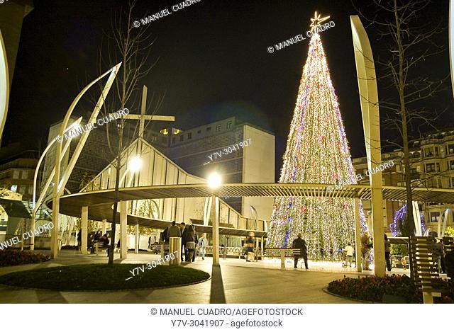 Alumbrado y ambiente navideño en Bilbao 2009-10