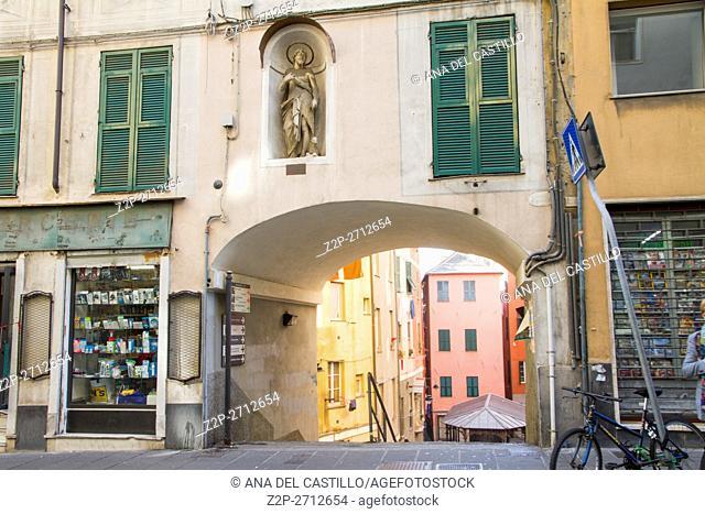 Genoa cityscape on November 14, 2015 in Genoa Italy