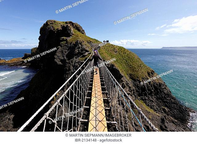 Carrick-a-Reed Rope Bridge, County Antrim, Northern Ireland, United Kingdom, Europe
